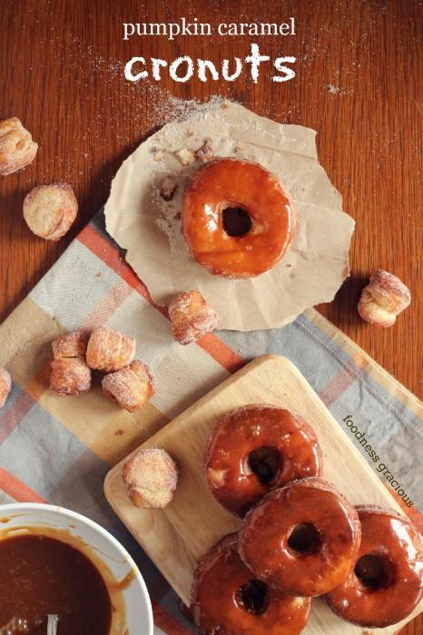 Caramel spiced cronut's