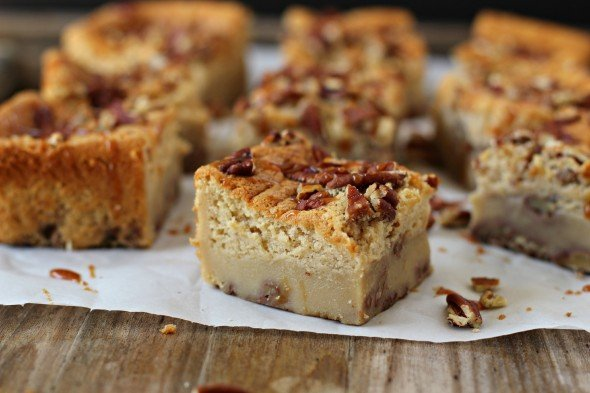 Pecan Pie Magic Cake Bars- Foodness Gracious