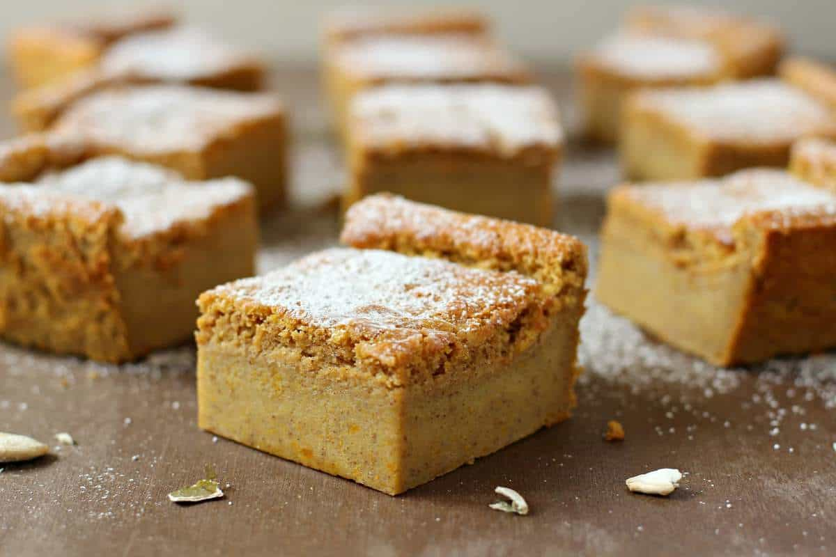 Magic Pumpkin Custard Cake