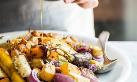 Roasted Vegetables with Rosemary Maple Balsamic