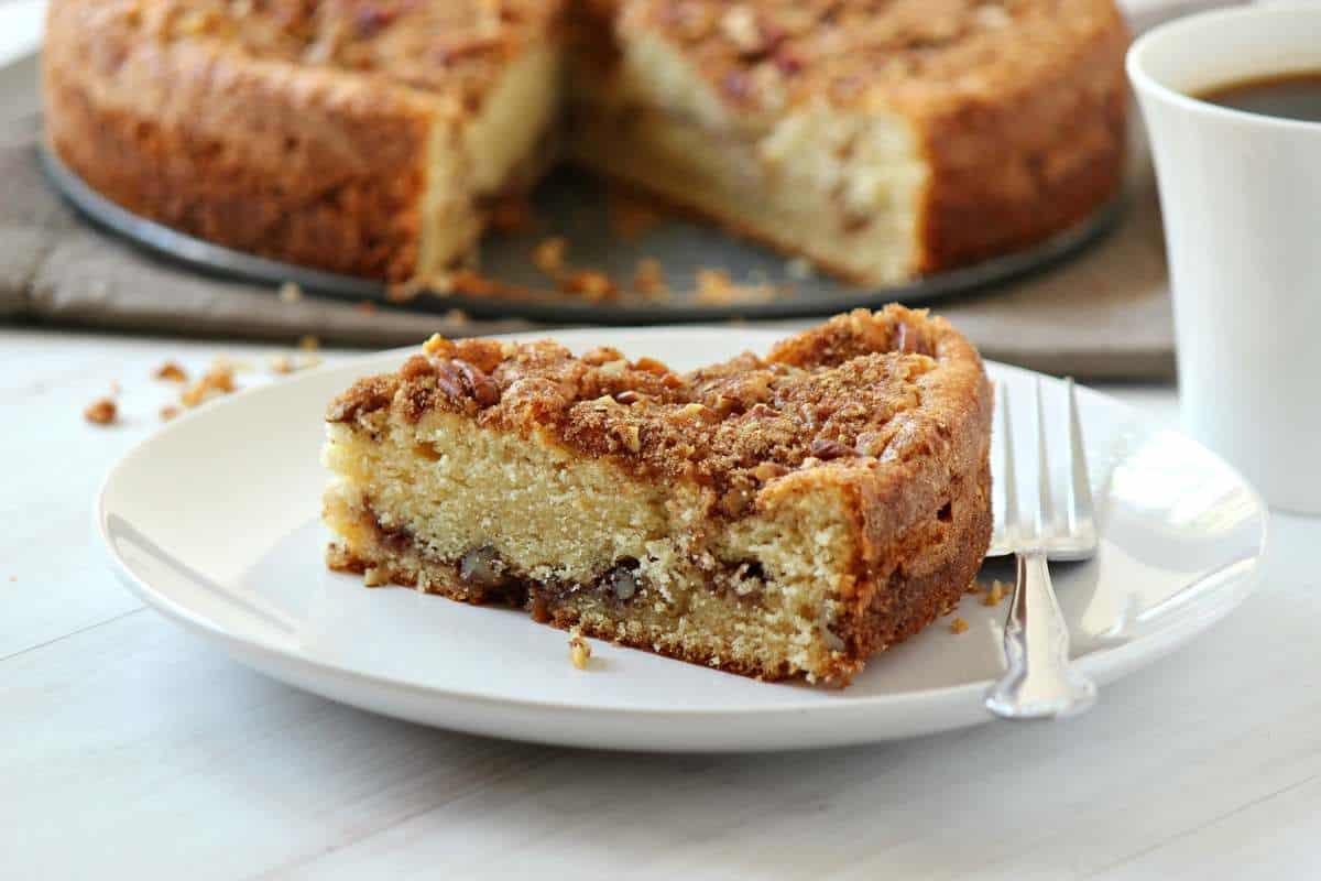 Sour Cream and Butter Cinnamon Coffee Cake Recipe