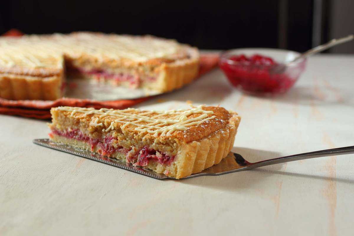Cranberry Almond White Chocolate Tart