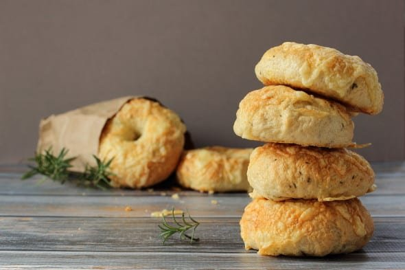 Asiago cheese and Rosemary Bagels   Foodness Gracious