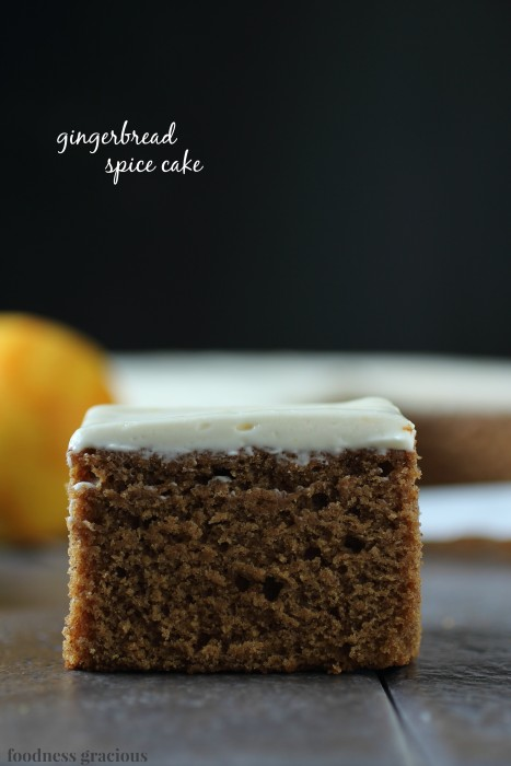 Gingerbread Cake with Orange Cream Cheese Icing