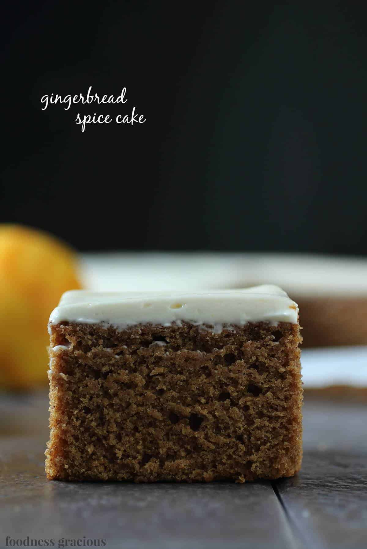 Gingerbread Spice Cake with Orange Cream Cheese Icing | Foodness ...