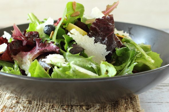 Blueberry Apple Green Salad | Foodness Gracious