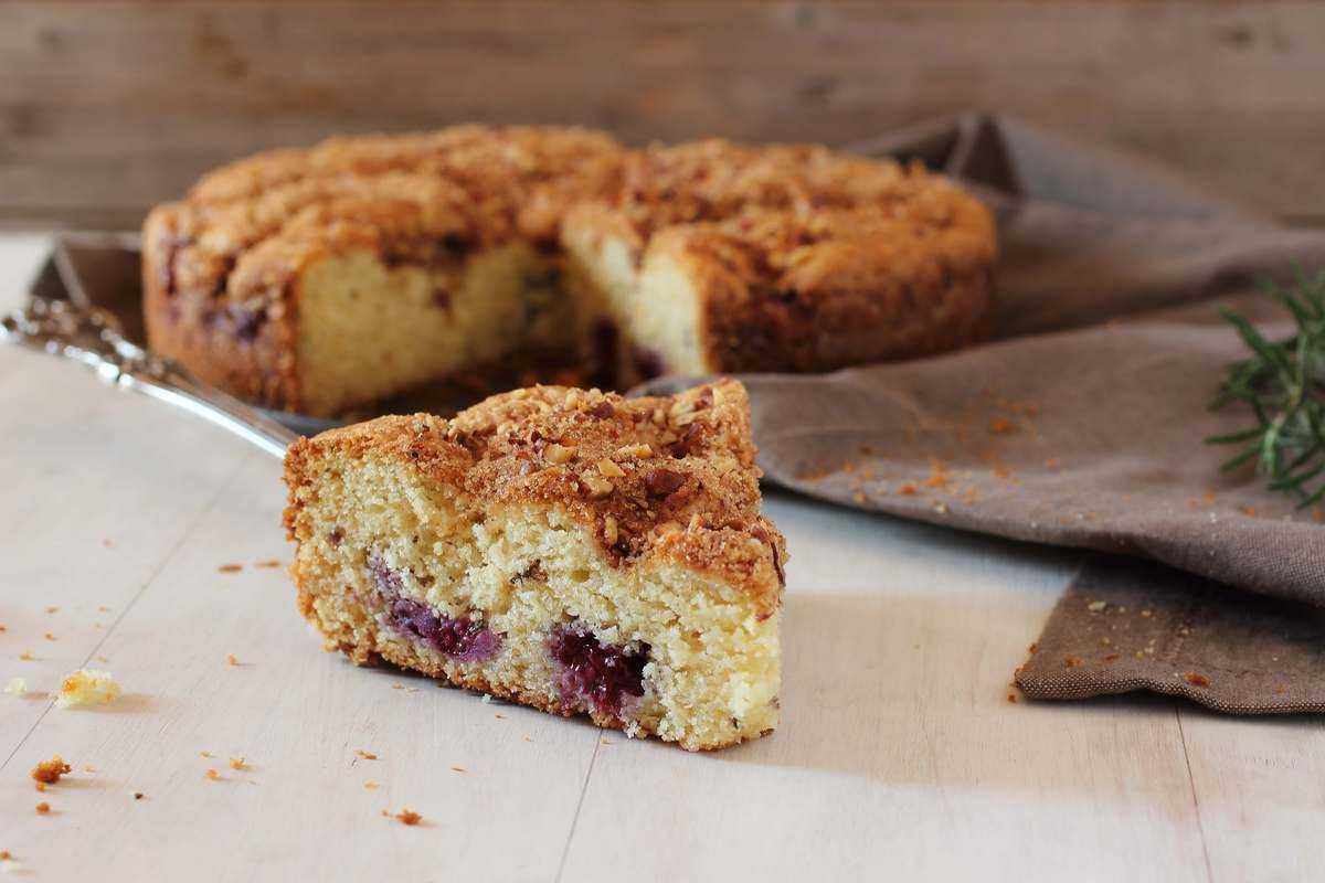 Blackberry Rosemary Butter Coffee Cake