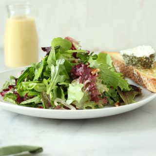 Goat Cheese Salad with Crispy Crouton