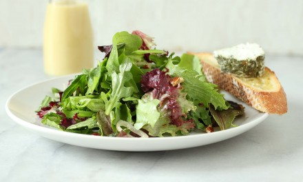 Green Salad with Goat Cheese