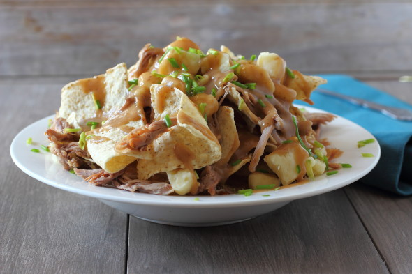 Epic game day food, pulled pork nachos