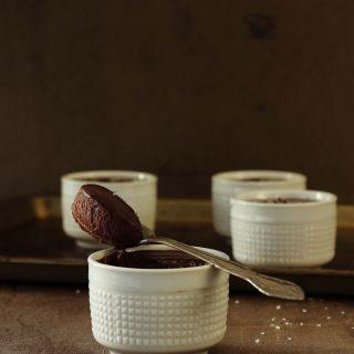 Rich Dark Chocolate Salted Pots