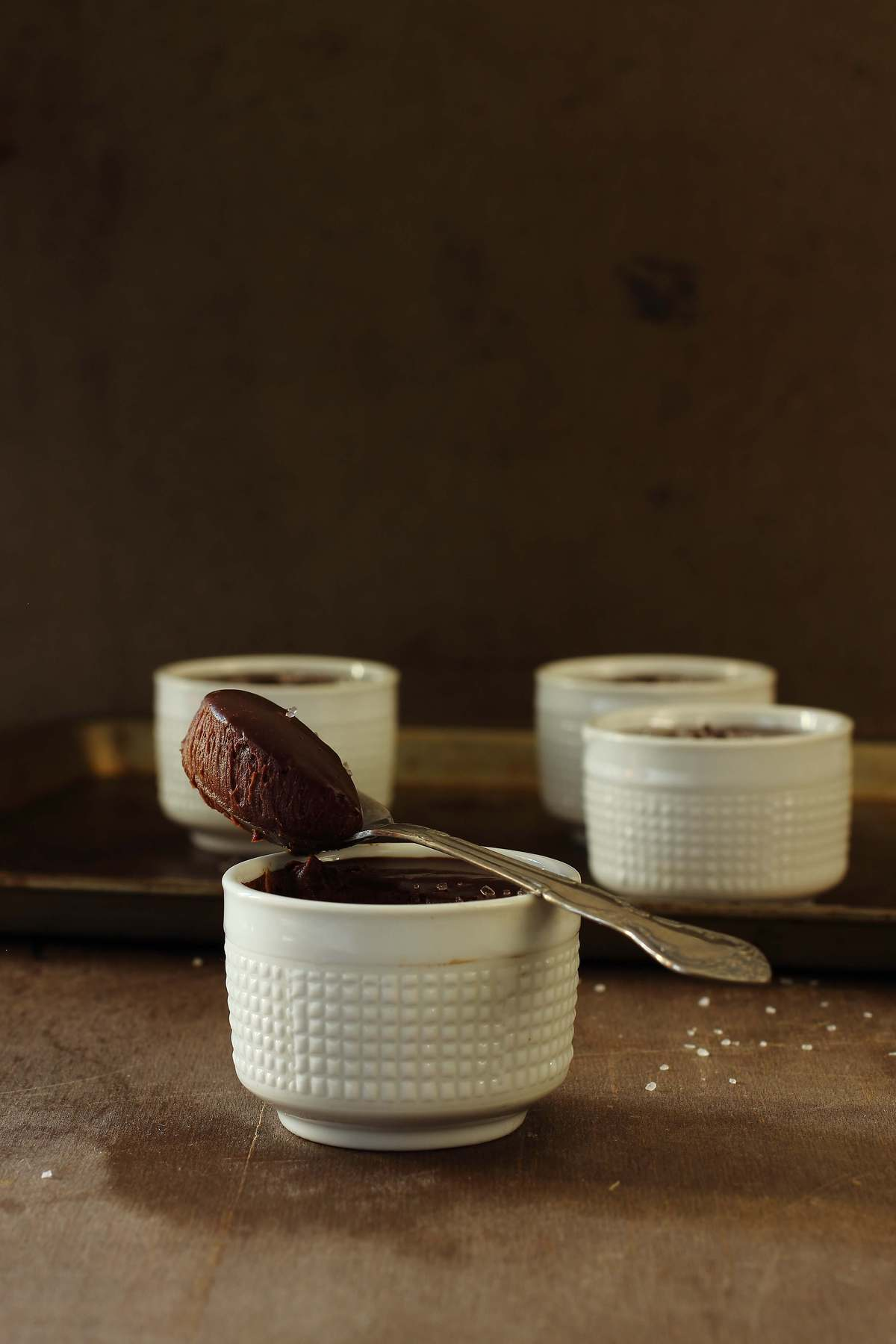 Mini Salted Dark Chocolate Pots