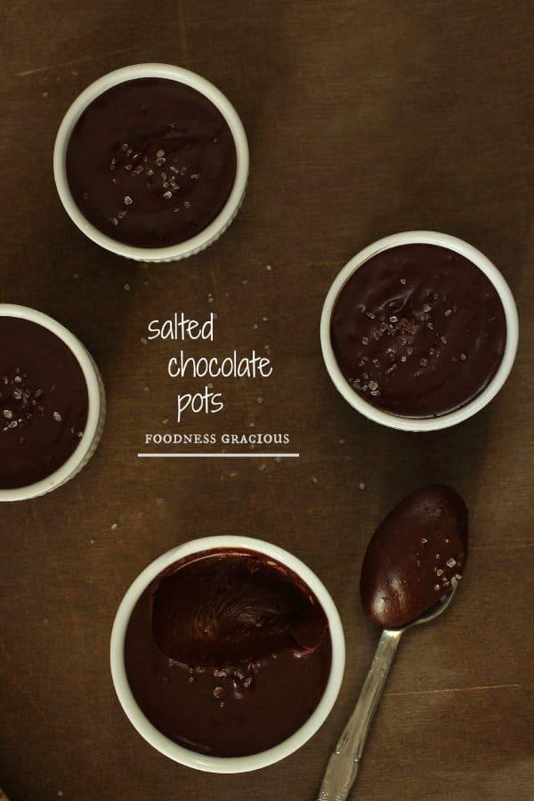 Rich Dark Salted Chocolate Pots
