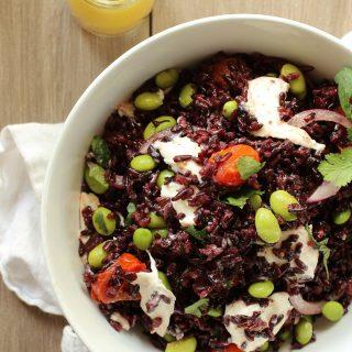 Black Rice Salad with Burrata