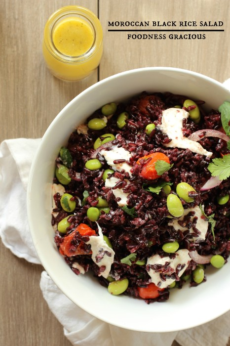 Moroccan Black Rice Salad with Burrata