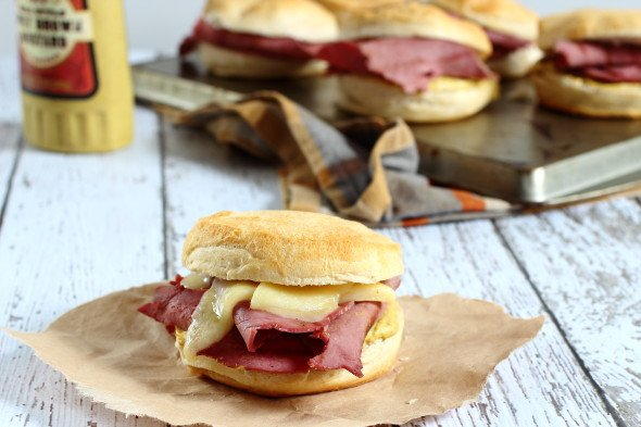 Corned Beef Sliders with Spicy Mustard