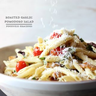 Roasted Garlic Pomodoro Pasta Salad