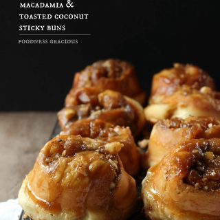 macadamia and toasted coconut sticky buns