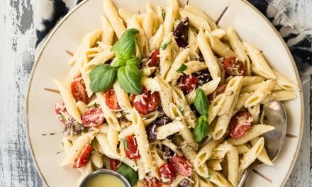 Roasted Garlic Pomodoro Pasta Salad