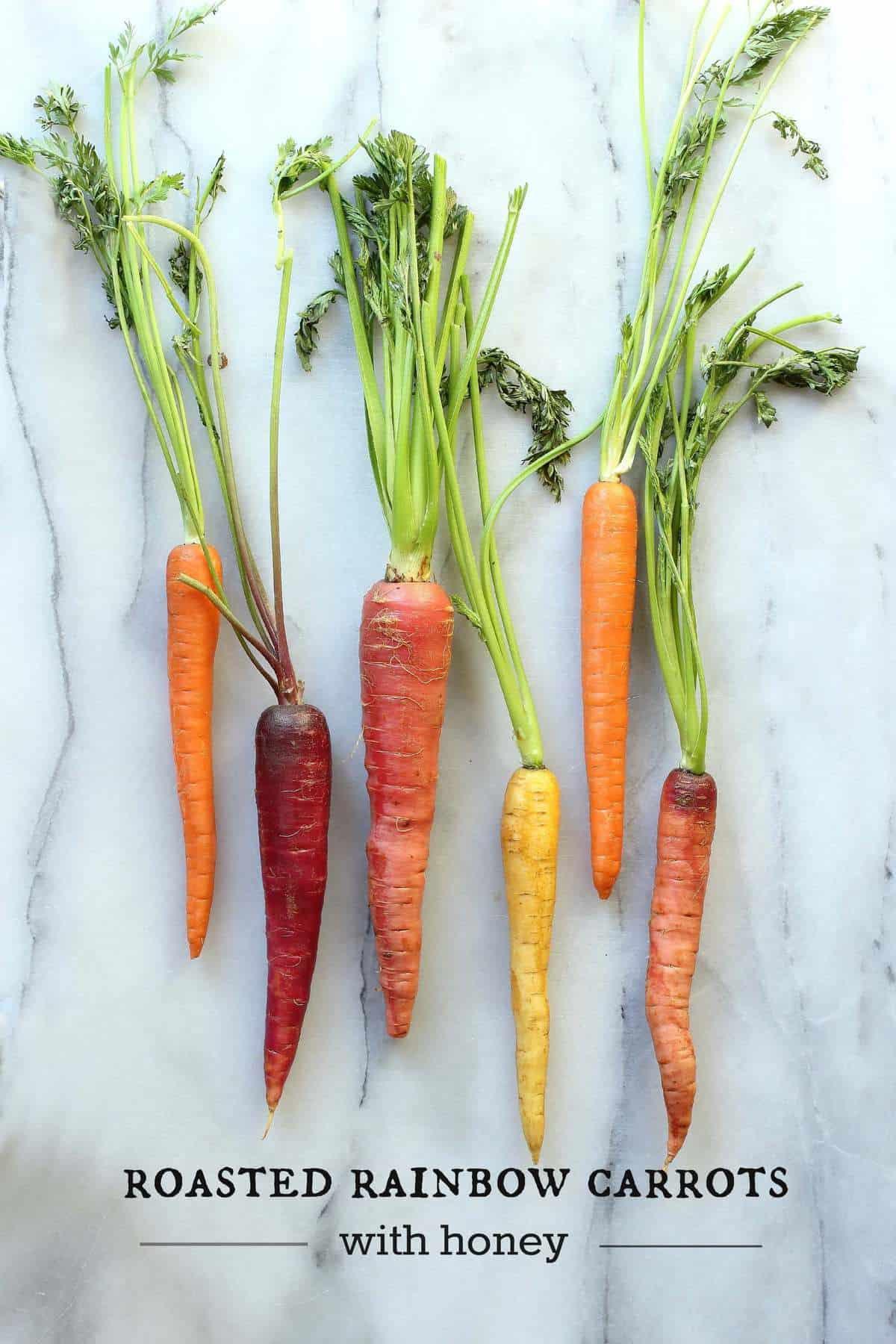 Rainbow Carrots with Honey and Rosemary