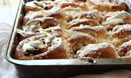 Triple Berry White Chocolate Breakfast Buns