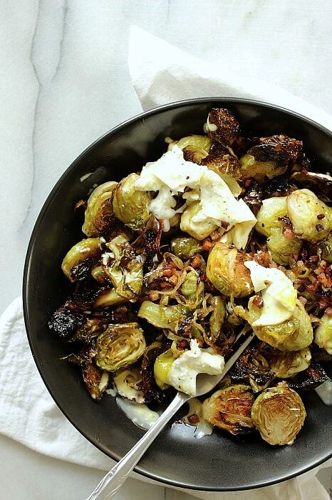 The perfect holiday side dish, roasted brussels sprouts