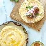 Beef Kofta Sandwich with Garlic Hummus