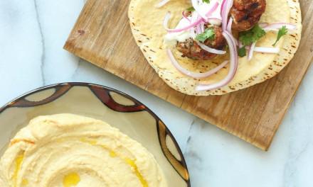 Beef Kofta Sandwich with Garlic Hummus