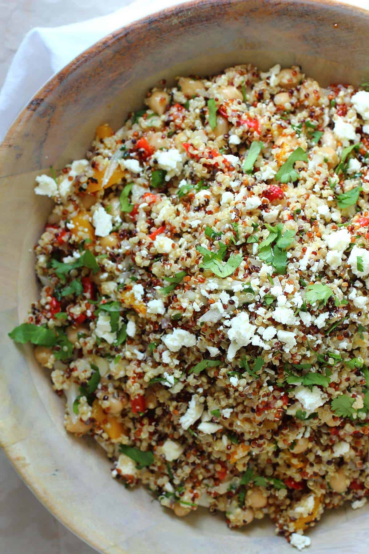 ... vegetable quinoa salad this roasted pepper feta yellow and red peppers