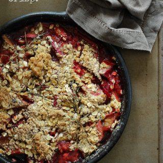 Rhubarb Raspberry Crisp