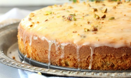 Orange Thyme and Pistachio Butter Cake