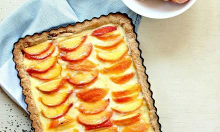 Peaches and Cream Custard Tart