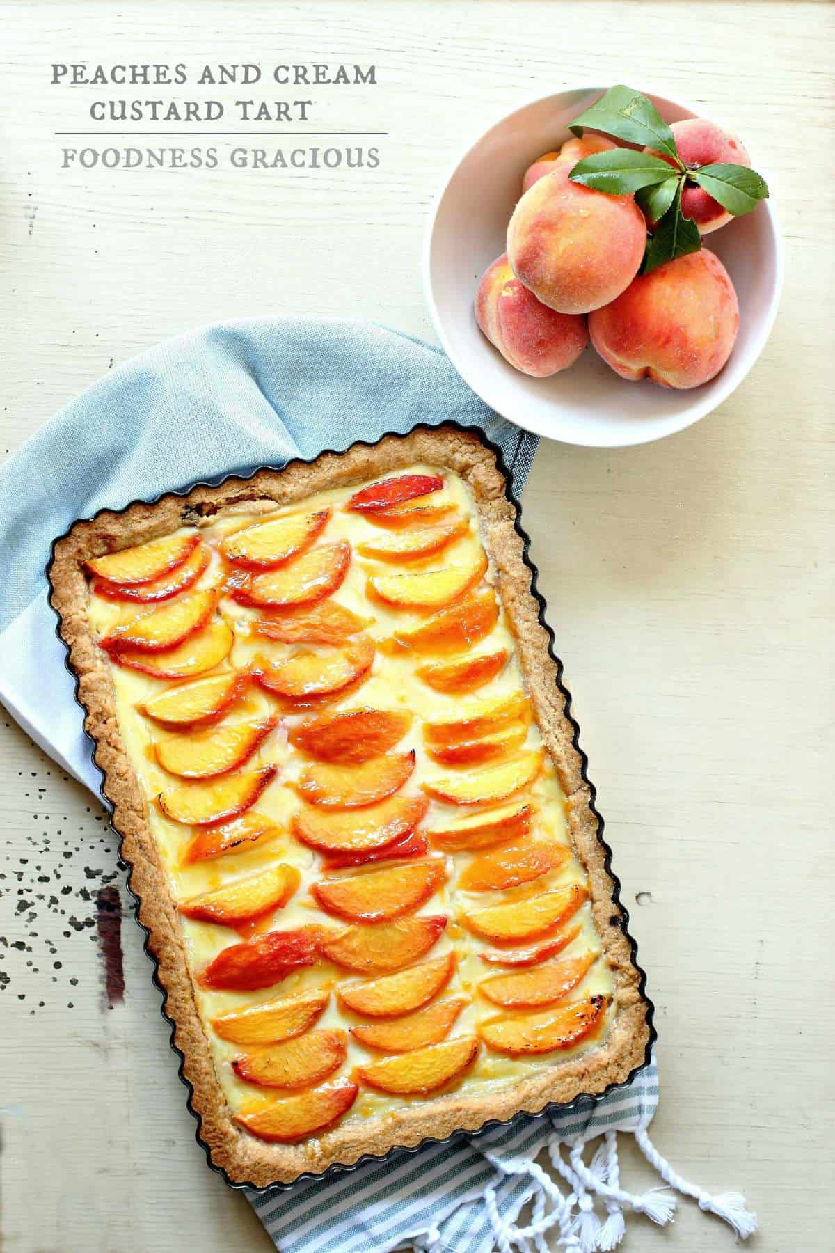 Peaches and Cream Custard Tart