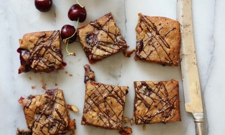 Cherry Chocolate Almond Blondies