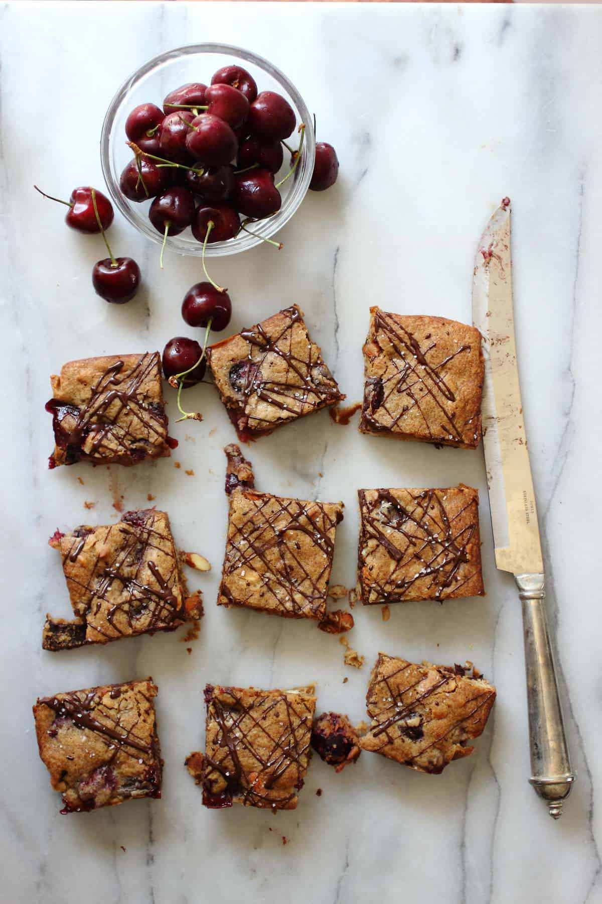 Chocolate-Cherry Blondies Recipes — Dishmaps