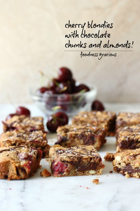 Moist blondies packed with cherries