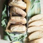 Fresh Homemade Chewy Ciabatta Bread Rolls