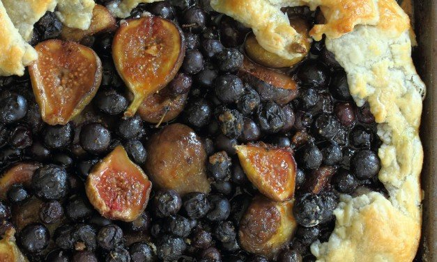 Sweet Fig and Blueberry Galette