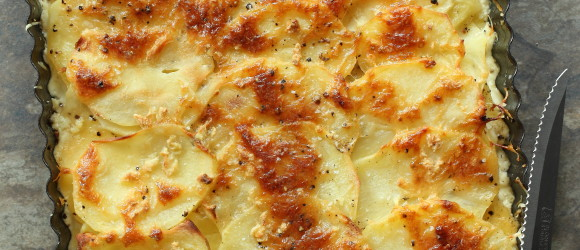 Cheesey melty potatoes