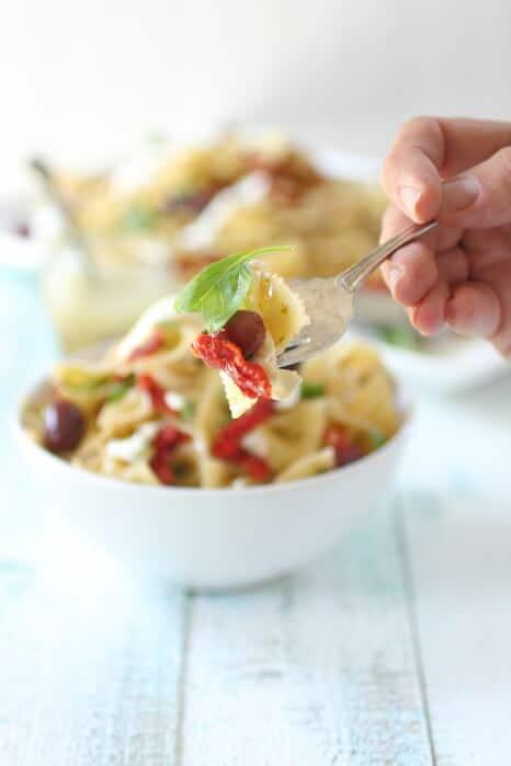 Burrata and Olive Pasta Salad