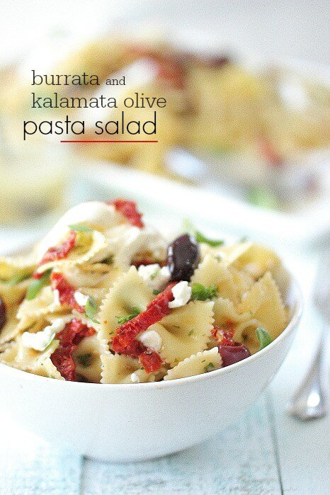 Burrata and Olive Pasta Salad