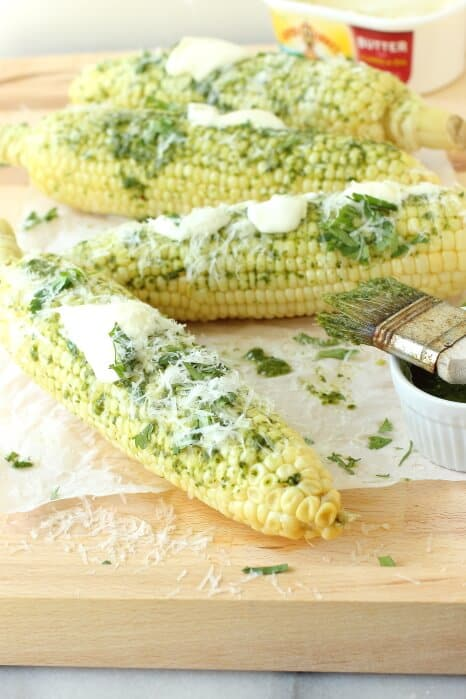 Buttery Sweet Corn with Chimichurri