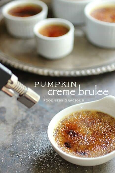 Pumpkin Creme Brulee with White Chocolate