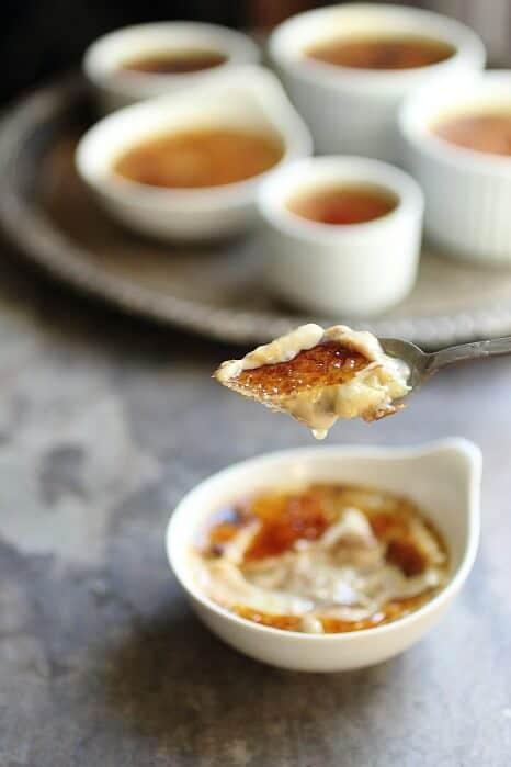 Pumpkin creme brulee with a crunchy sugar crust