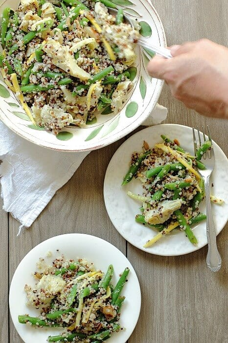 Quinoa Salad with Green Beans and Artichokes