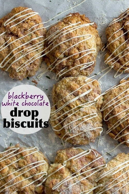 Blackberry White Chocolate Drop Biscuits