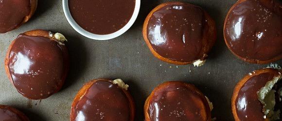 Chocolate Glazed Pumpkin Donuts