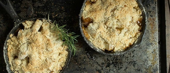 Pear and Rosemary Crumble