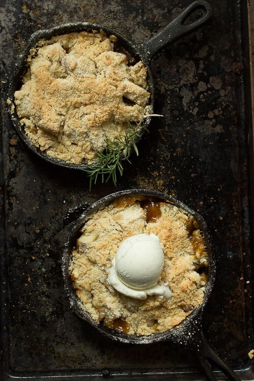 Pear Crumble with Fresh Rosemary
