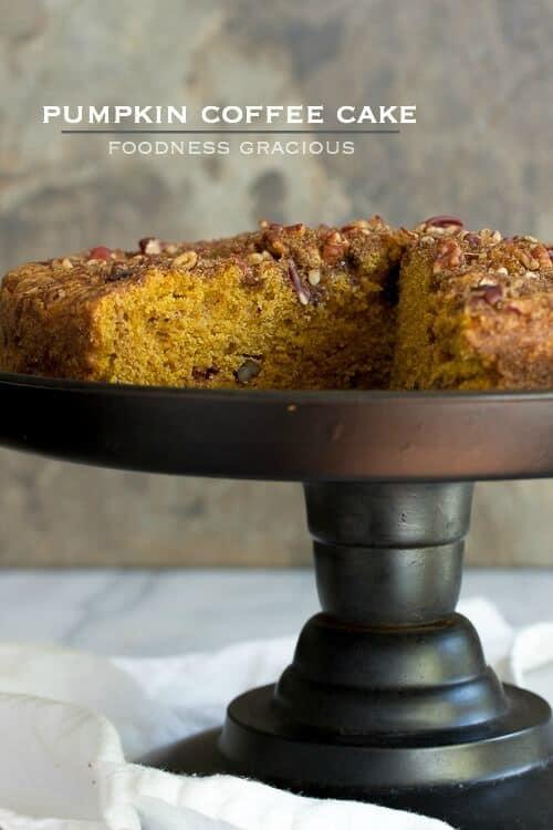 Pumpkin Coffee Cake with Streusel